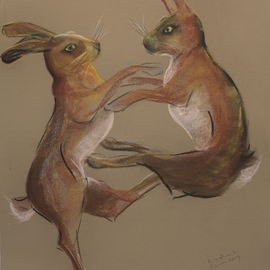 Boxing hares 1  By Tom Lund-Lack