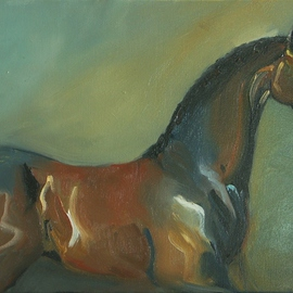 Tom Lund-lack: 'Horse study', 2005 Oil Painting, Equine. Artist Description:  A study of a horse in the style of Alfred Munnings ...