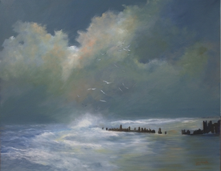 Artist: Tom Lund-lack - Title: On a Lonely Shore - Medium: Oil Painting - Year: 2014