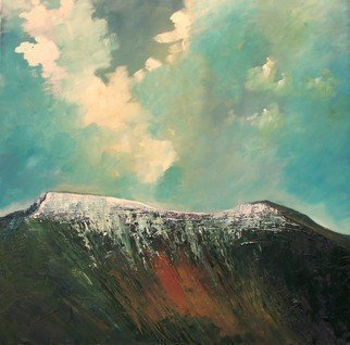 Painting by Tom Lund-lack titled: PenyFan and Corndu, created in 2006