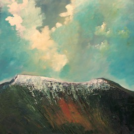 Tom Lund-lack Artwork PenyFan and Corndu, 2006 Oil Painting, Mountains