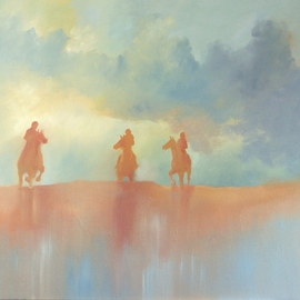 Tom Lund-lack: 'Red', 2010 Oil Painting, Equine. Artist Description:  Just a tranquil study in complementary colours. ...
