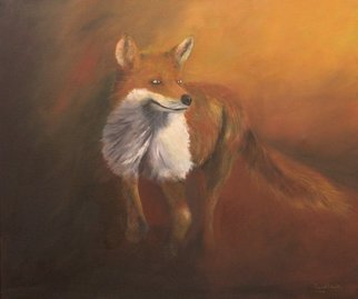 Wildlife Oil Painting by Tom Lund-lack titled: Reynard, created in 2014