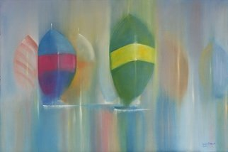 Tom Lund-lack Artwork Spinnakers, 2010 Oil Painting, Sailing