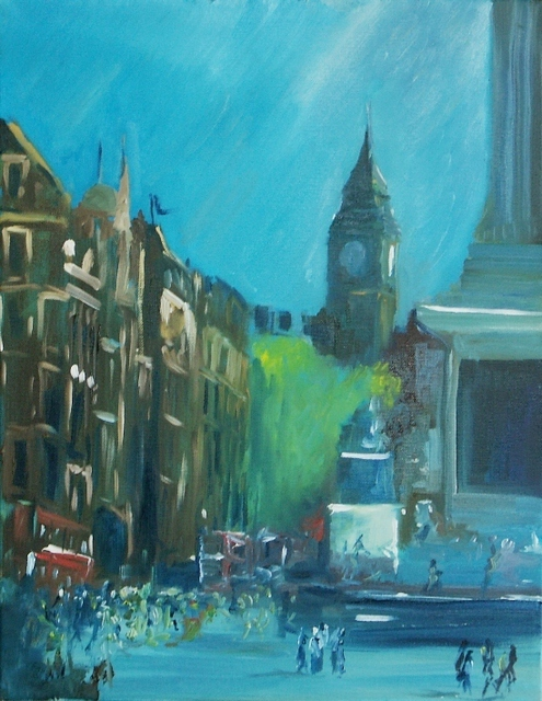 Tom Lund-Lack  'Whitehall Afternoon 13 April 2007 ', created in 2007, Original Painting Ink.