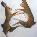 boxing hares 2 By Tom Lund-Lack