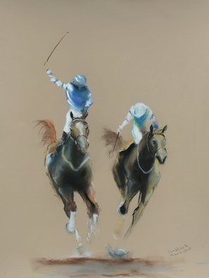 Tom Lund-lack: 'energy 20', 2018 Pastel, Equine. Artist Description: Harder to do than they look, no mistakes allowed.  In this series of pastels the title reflects the energy of the sport of horse racing and the execution of the piece. The support is 300GSM Mi Teintes white pastel paper. ...