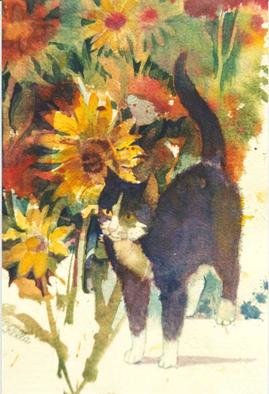 Lucille Rella Artwork Black Cat, 1998 Black Cat, Animals