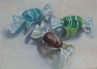 Lucille Rella: 'Glass Candies', 2009 Oil Painting, Still Life.