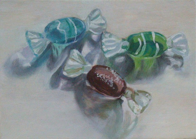 Artist Lucille Rella. 'Glass Candies' Artwork Image, Created in 2009, Original Drawing Pastel. #art #artist