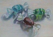 - artwork Glass_Candies-1259376788.jpg - 2009, Painting Oil, Still Life