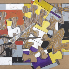 Lucille Rella: 'Homage to Mondrian', 2009 Acrylic Painting, Abstract.