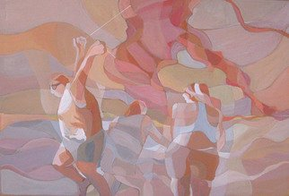Lucille Rella: 'Ocean Beach', 2010 Acrylic Painting, Figurative.