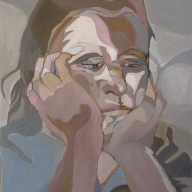 Lucille Rella: 'Self Portrait', 2009 Acrylic Painting, Figurative.