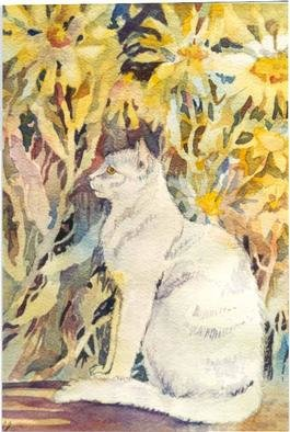 by Lucille Rella titled: White Cat, created in 1998