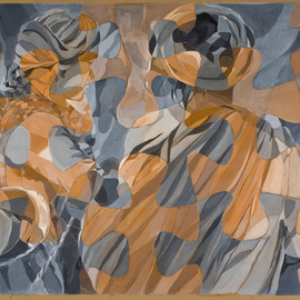 Lucille Rella: 'Women of Kalaw', 2009 Acrylic Painting, Abstract Figurative.