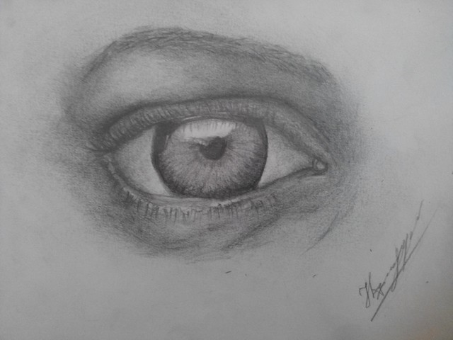 Natalia March  'The Eye', created in 2015, Original Drawing Pencil.