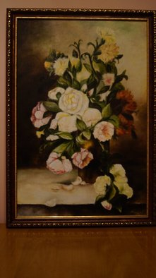 Natalia March: 'flowers', 2014 Oil Painting, Floral. Artist Description: The dead nature represented by flowers...