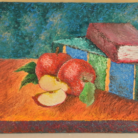 Luxo Np: 'Apple Delicious', 2012 Oil Painting, Still Life. Artist Description:  The Beauty Within Series--
