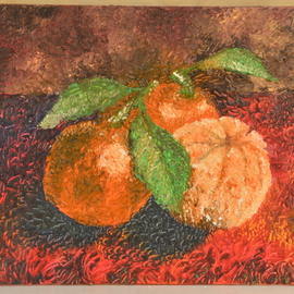 Luxo Np: 'Citrus Tangerine', 2012 Oil Painting, Still Life. Artist Description:  The Beauty Within Series--