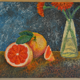 Luxo Np: 'Sweet Orange', 2012 Oil Painting, Still Life. Artist Description:  The Beauty Within Series--