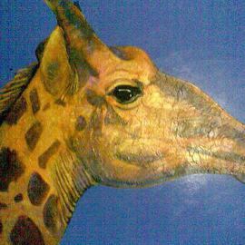 Abdullah Butler: 'Giraff On Blue', 2010 Acrylic Painting, Magical. Artist Description:     painting    ...