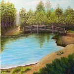 Bridge Over Lake, Lora Vannoord