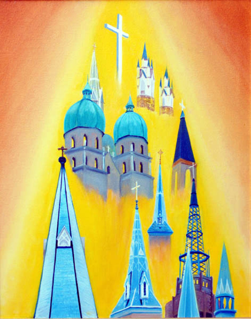 Lora Vannoord  'Church Steeples', created in 2011, Original Painting Other.