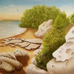 Crystal Beach Rocks By Lora Vannoord