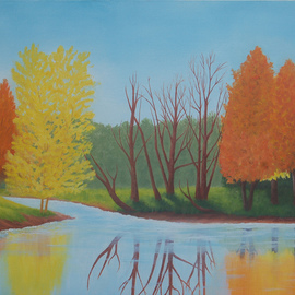 Lora Vannoord Artwork Fall Colors, 2015 Oil Painting, Landscape