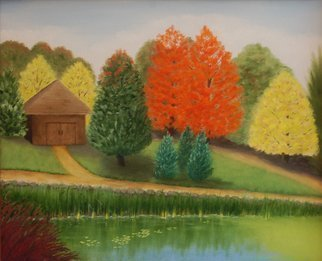 Lora Vannoord: 'Fall in Michigan', 2015 Oil Painting, Landscape.  Original oil painting of a scene in