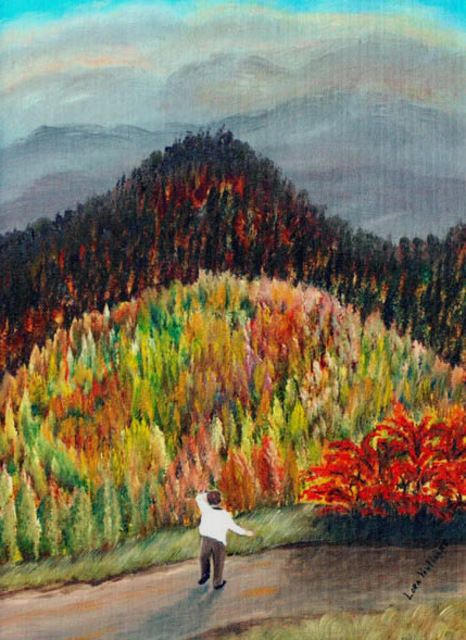 Lora Vannoord  'Fall In Upstate New York', created in 2009, Original Painting Other.