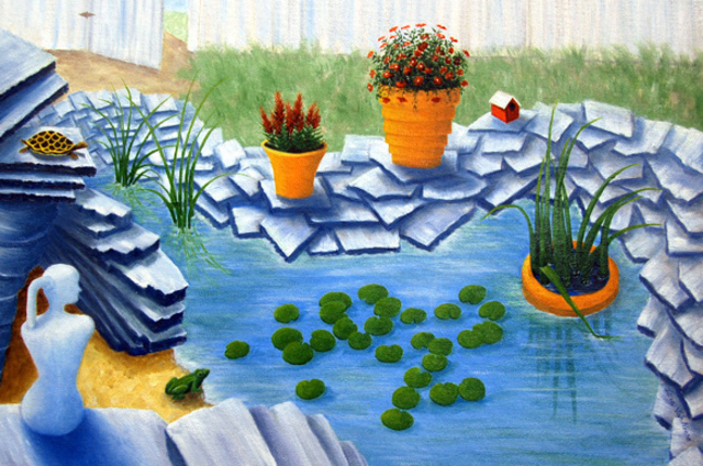 Lora Vannoord  'Fun Garden', created in 2012, Original Painting Other.