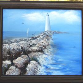Lighthouse by Rocks