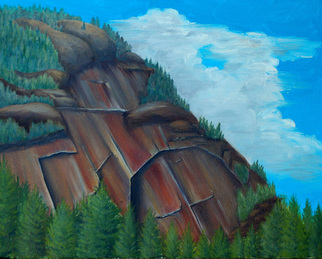Painting by Lora Vannoord titled: Mountain, created in 2011