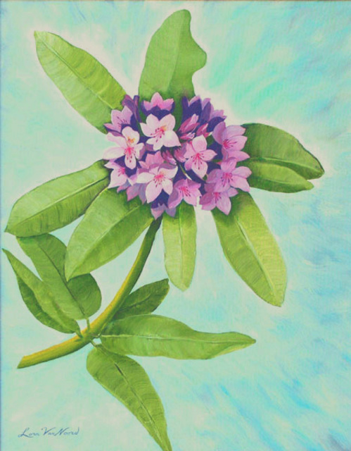 Lora Vannoord  'Rododendrom', created in 2011, Original Painting Other.