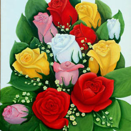 Rose Bouquet By Lora Vannoord