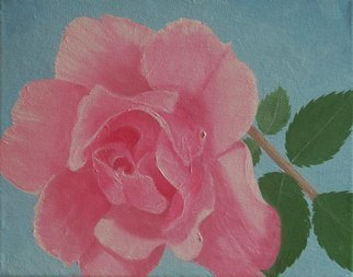 Lora Vannoord Artwork The Pink Rose, 2016 Oil Painting, Floral