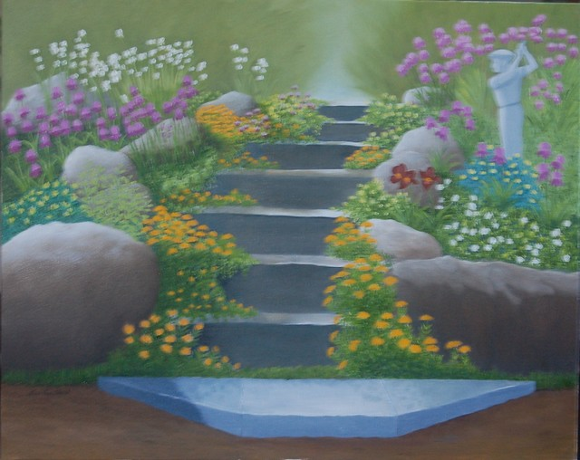 Lora Vannoord  'Anns Garden', created in 2018, Original Painting Other.