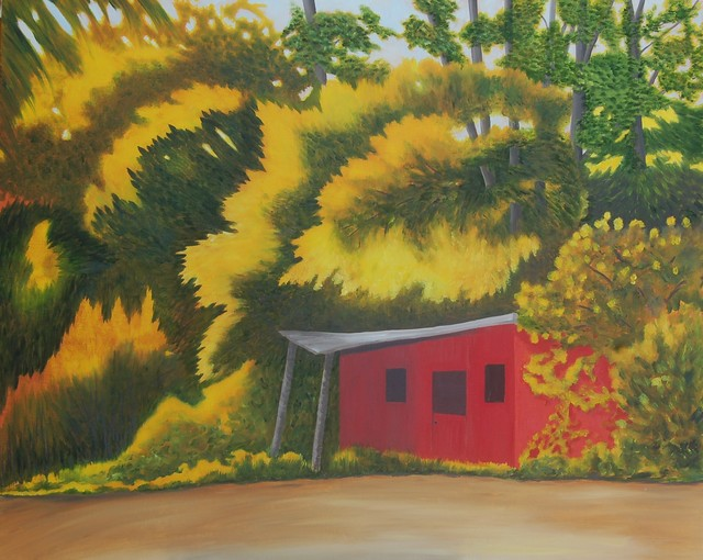 Artist Lora Vannoord. 'The Red Shed' Artwork Image, Created in 2018, Original Painting Other. #art #artist