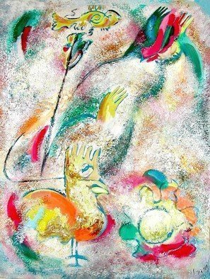 Leonid Vidrak: 'Rhapsody over the sun', 2008 Tempera Painting, undecided. Artist Description:  Rhapsody over the sun ...