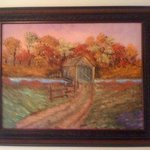 Covered Bridge in the Fall By Leonard Parker