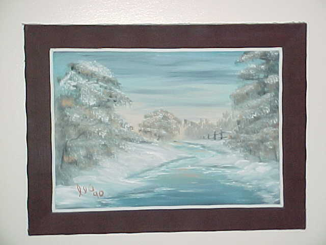 Leonard Parker  'Frozen River', created in 1988, Original Painting Oil.