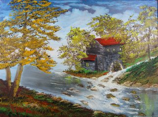 Leonard Parker Artwork Old Mill Stream, 2016 Oil Painting, Landscape