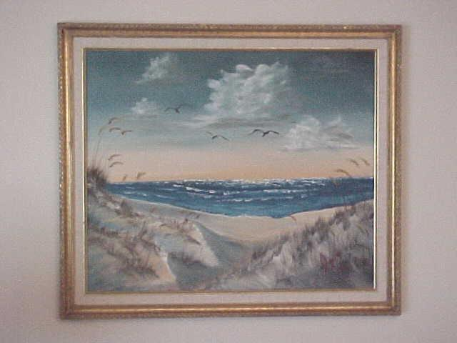 Leonard Parker  'Panhandle Dunes', created in 1993, Original Painting Oil.