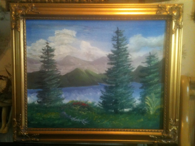 Leonard Parker  'Shenandoah Morning', created in 2011, Original Painting Oil.