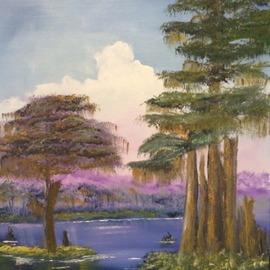 Leonard Parker: 'Swamp Land', 2016 Oil Painting, Landscape. Artist Description:  southeast, Florida, New Orleans, Texas, Louisiana, Georgia, Mississippi, swamp, Everglades, cypress trees, Spanish moss, swampland, seascape, landscape, cityscape, mountain nscape, scapes, lake scapes, oil painting, plein air ...