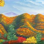 smoky mountain in the fall By Leonard Parker