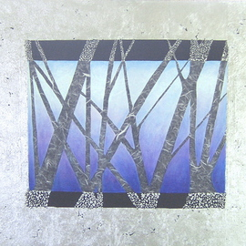Lydia Richez-bowman Artwork First Snow, 2006 Mixed Media, Abstract Landscape