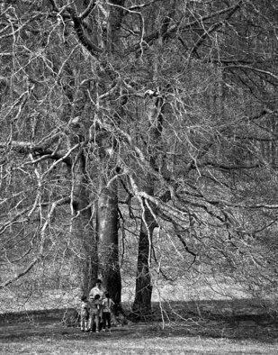 Lynda Lehmann: 'A World of Their Own', 2004 Other Photography, Trees.  A woman and three children ensconsed by the spread of a magnificent tree, totally absorbed in the private world they are sharing.  Matted archival print, 8 x 10 in 11 x 14 mat.  Image c Lynda Lehmann. ...